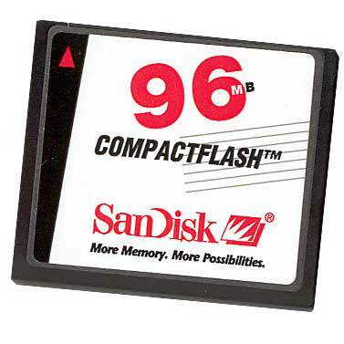Sandisk 96MB Compact Flash Card.