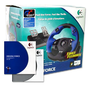 Logitech Driving Force Playstation 2 Wheel and Pedals USB