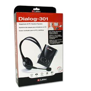 labtec dialog 301 telephone  amp  pc headset system retail box
